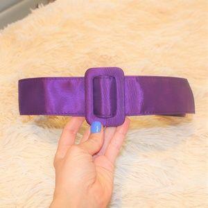 Accessories - 80's Satin purple belt